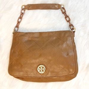 Tory Burch Quilted Leather Bijou Hobo Bag